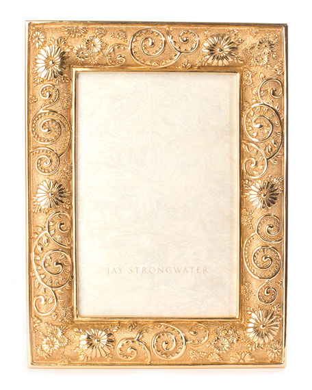 Jay Strongwater Flower Scroll Frame, 4