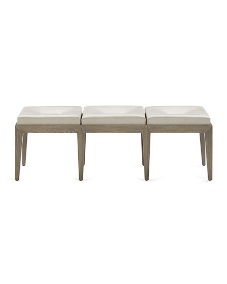 Ryann Luxe Leather Bench