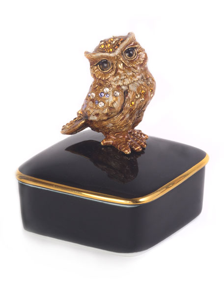 Jay Strongwater Seymour Owl Box