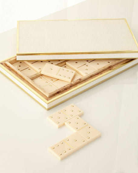 Faux-Shagreen Domino Set