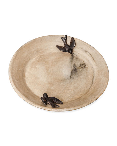 Jan Barboglio Two-Bird Stone Bowl
