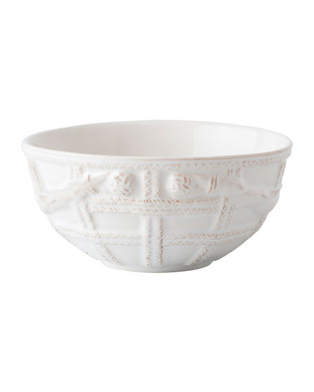 Juliska Le Panier Whitewash Basket Cereal/Ice Cream Bowl
