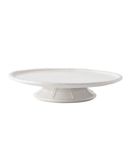 Juliska Le Panier Whitewash Cake Pedestal