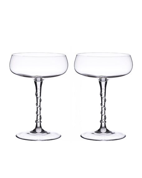 Juliska Two Amalia Champagne Coupes