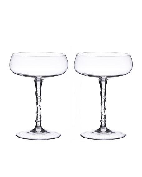 Juliska Two Amalia Champagne Coupes
