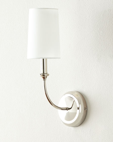 Sylvan Polished Nickel Sconce