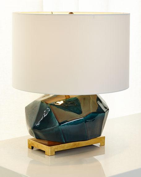 "Ceramic ""Geode"" Table Lamp"