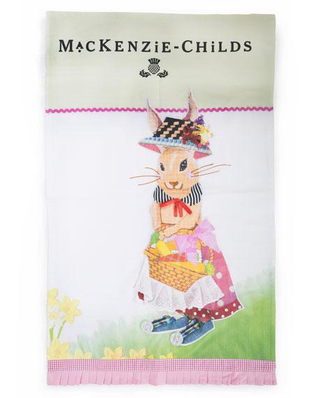 MacKenzie-Childs Bunny Dish Towel