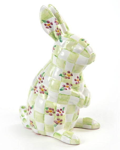 MacKenzie-Childs Quilted Bunny Bank