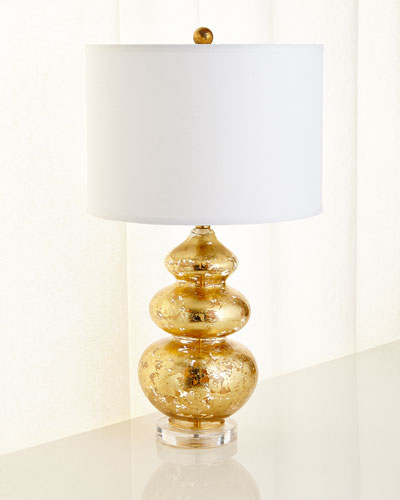 Gold-Leaf Glass Table Lamp