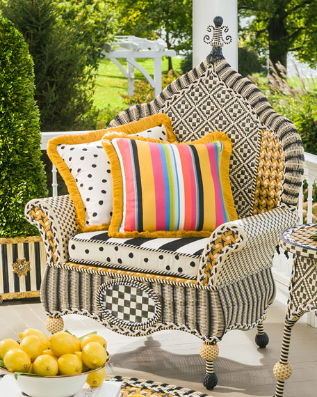 Mackenzie childs courtyard outdoor wing chair neiman marcus for Stores like horchow