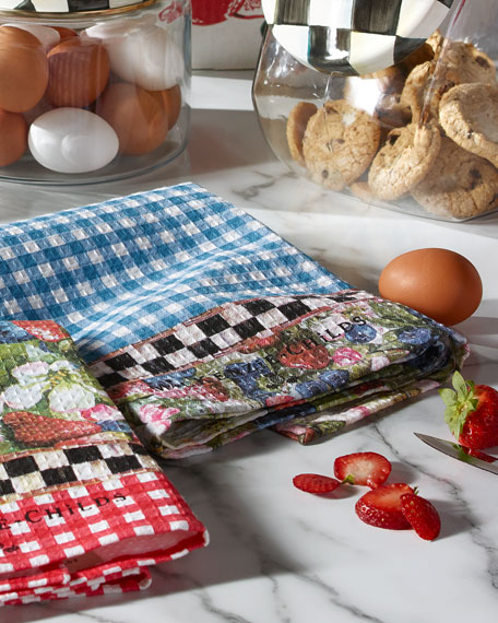 MacKenzie-Childs 2 Berries and Blossoms Dish Towels