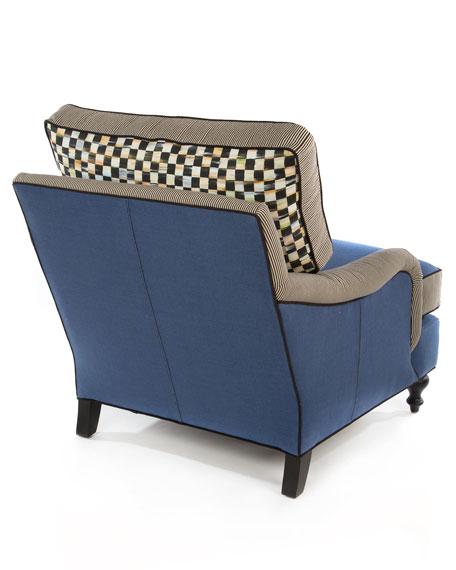 Underpinnings Blue/Checks Lounge Chair