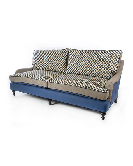 Courtly Check Underpinnings/Lake Sofa