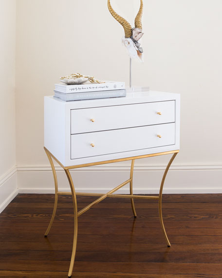 MacBeth Two-Drawer Side Table