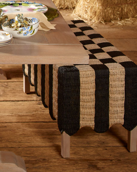 Striped Grange Bench