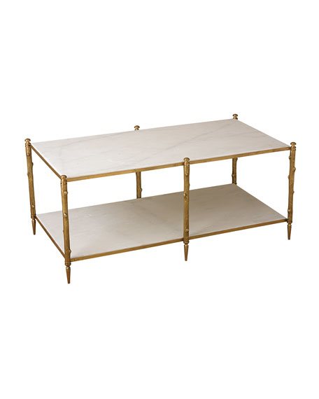 Global Views Lionel Marble Coffee Table Neiman Marcus