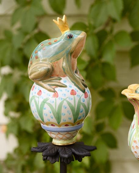 MacKenzie-Childs Frog on Ball Garden Stake