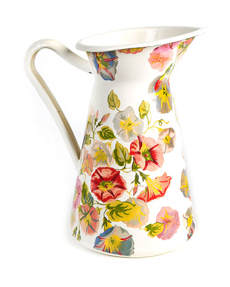 MacKenzie-Childs Morning Glory Practical Pitcher