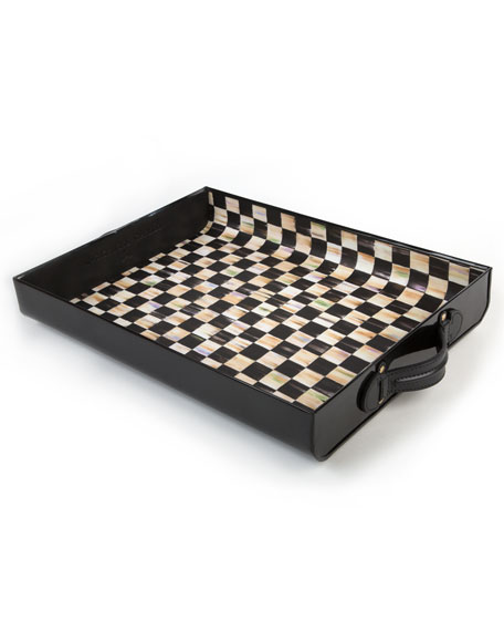 MacKenzie-Childs Black Terrific Tray