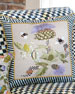 Image 1 of 3: Large Thistle & Bee Square Pillow