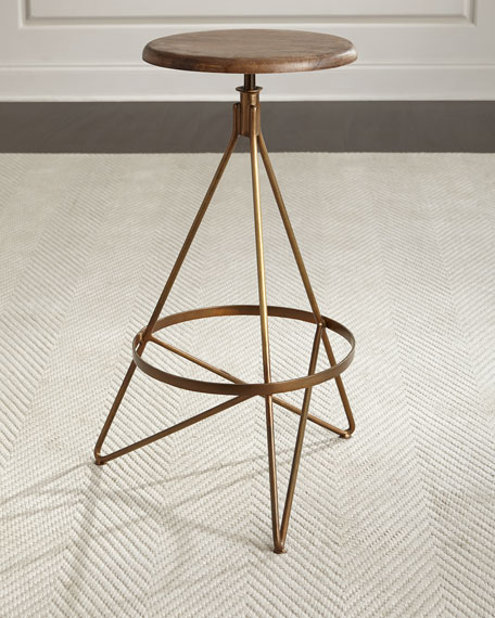 Arteriors Dakota Swivel Barstool