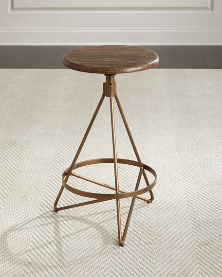 Arteriors Dakota Swivel Counter Stool