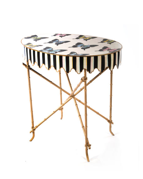 MacKenzie-Childs Butterfly Collection Side Table