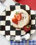 Courtly Check Enamel Petal Salad/Dessert Plate