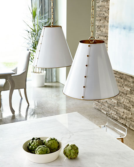 Tapered Metal Pendant Light