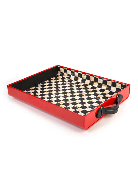 MacKenzie-Childs Red Terrific Tray