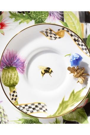 MacKenzie-Childs Thistle & Bee Saucer