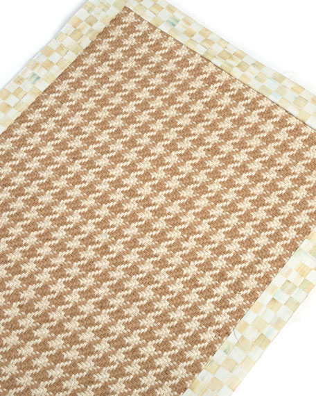 MacKenzie-Childs Houndstooth Wool/Sisal Runner, 2'6