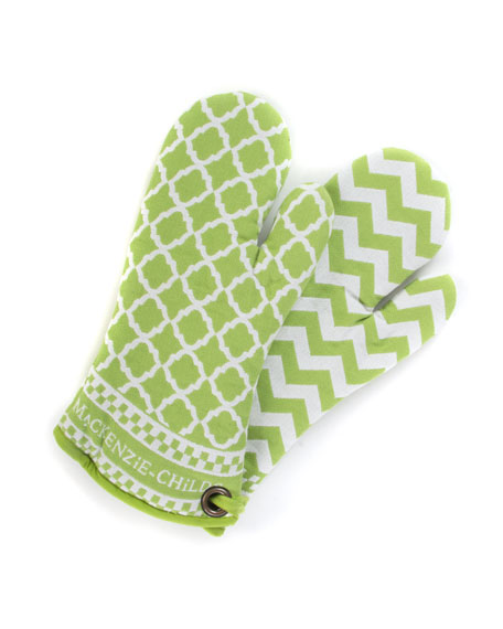 Key Lime Oven Mitts, Set of 2