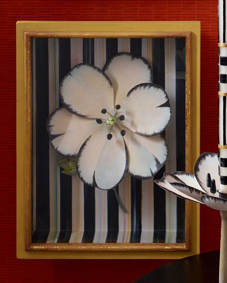MacKenzie-Childs White Tulip Shadow Box