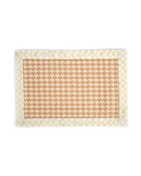MacKenzie-Childs Houndstooth Wool/Sisal Rug, 2' x 3'