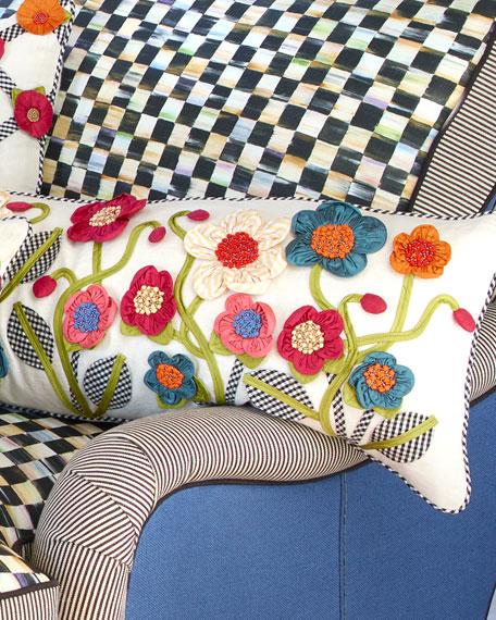 Long Tic-Tac-Posie Lumbar Pillow