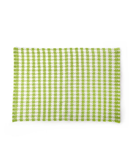 MacKenzie-Childs Chartreuse Houndstooth Scatter Rug