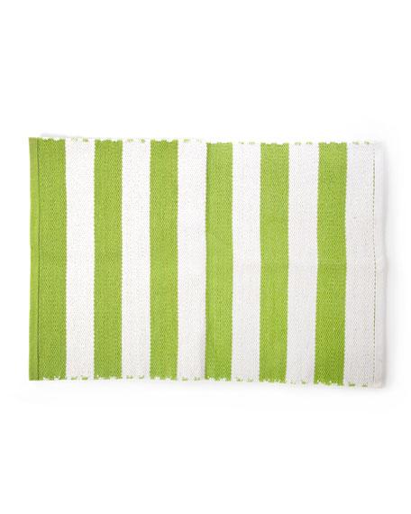 Chartreuse Stripe Scatter Rug