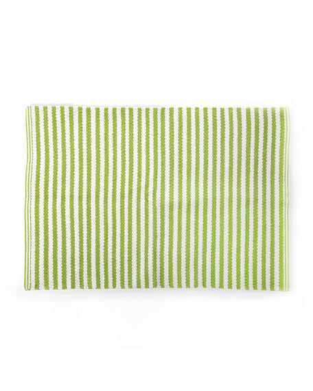 MacKenzie-Childs Chartreuse Stripe Scatter Rug