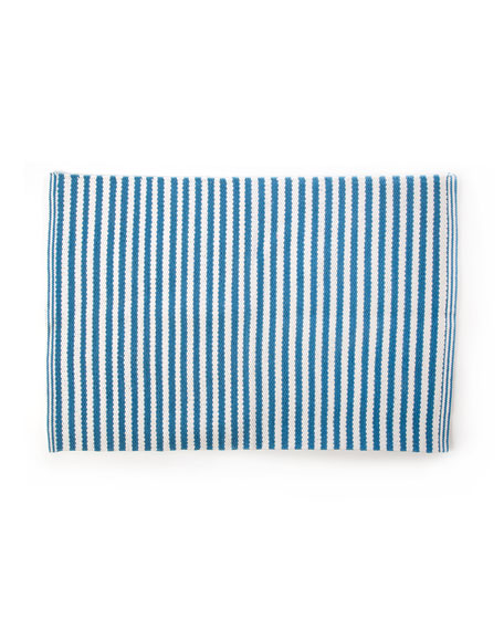 Oxford Blue Stripe Scatter Rug