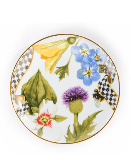 Thistle & Bee Bread and Butter Plate