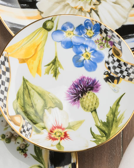 MacKenzie-Childs Thistle & Bee Bread and Butter Plate