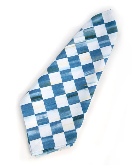 MacKenzie-Childs Berry Blue Check Napkin