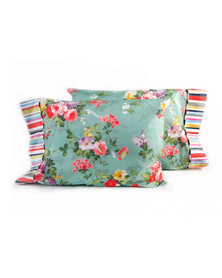 MacKenzie-Childs Standard Chelsea Garden Pillowcases, Set of 2
