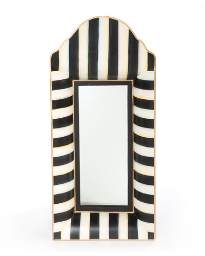 Black & White Striped Mirror