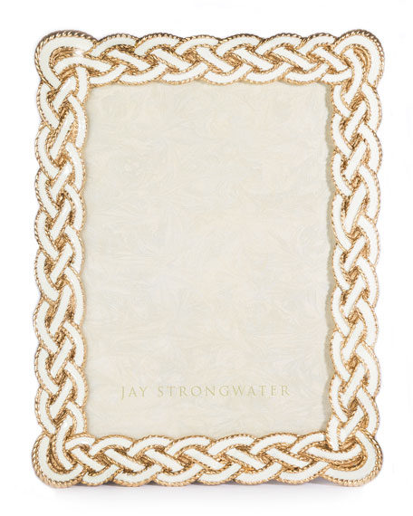 Jay Strongwater Cream Braided Frame, 5
