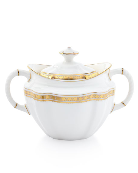 Carlton Gold Covered Sugar Bowl
