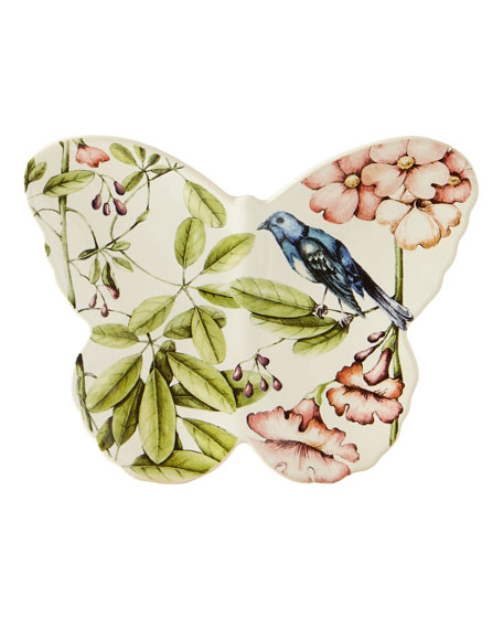 Juliska Belle Botanica Butterfly Platter & Plate &