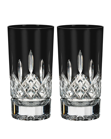 Set of 2 Lismore Black Highballs